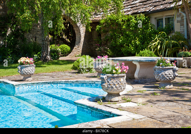 Stine stock photos stine stock images alamy for English garden pool