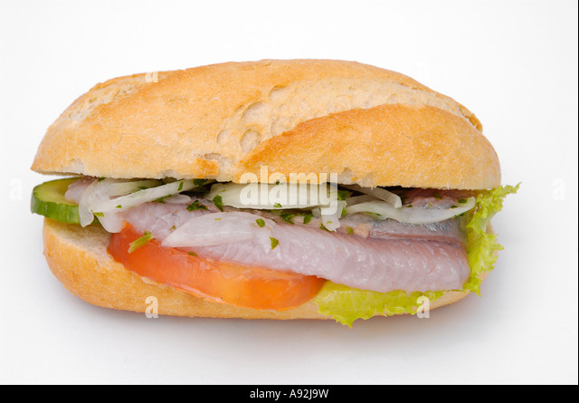 Fischbroetchen stock photos fischbroetchen stock images for Fishing with bread