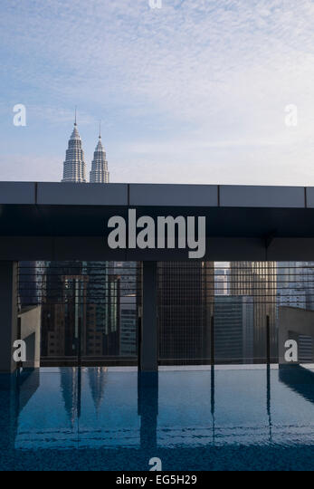 Rooftop swimming pool stock photos rooftop swimming pool - Rooftop swimming pool kuala lumpur ...