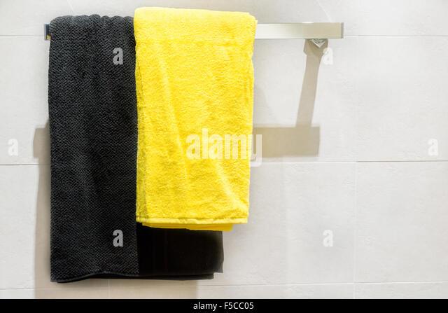 Towel Rail Bathroom Stock Photos Amp Towel Rail Bathroom