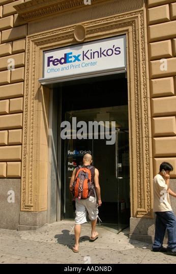 kinko s copier store A fedex office store with the fedex kinko's sign fedex office outside of the united states paul orfalea , whose nickname was kinko because of his curly hair , founded the company as kinko's in 1970.