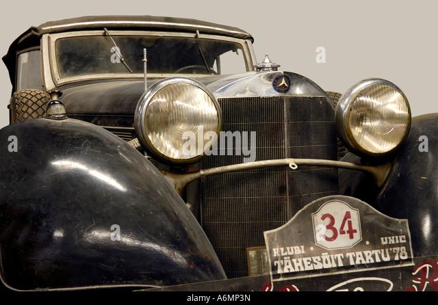 black mercedes benz 540k 1935 classic vintage car stock image