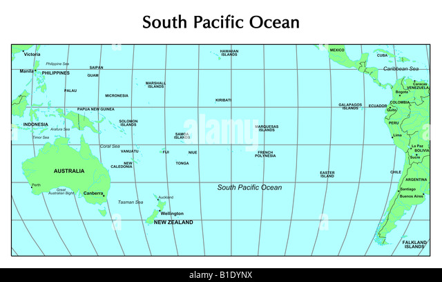 South pacific ocean map stock photos south pacific ocean map south pacific ocean map stock image sciox Choice Image