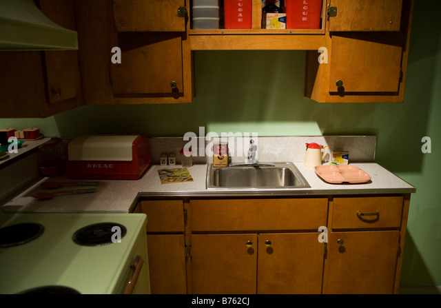 1950S Kitchen Cabinets Glamorous Kitchen Cabinet 1950S Stock Photos & Kitchen Cabinet 1950S Stock Inspiration
