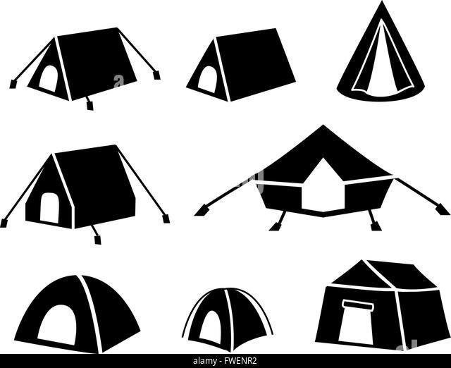 Tent Vector Vectors Stock Photos & Tent Vector Vectors ...