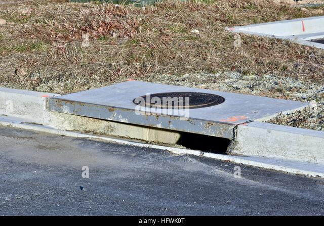 Storm Drain Conductor : Exposed drain stock photos images