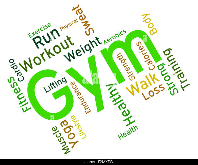 Workout Words: Exercise Words Representing Physical Activity Cut Out