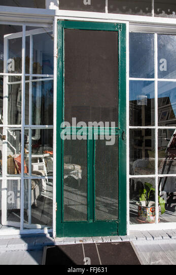 Vintage screened door exterior in Cape May New Jersey USA - Stock Image & American Screen Door Stock Photos u0026 American Screen Door Stock ... pezcame.com