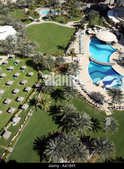 United arab emirates dubai meridien stock photos united for Garden pool dubai