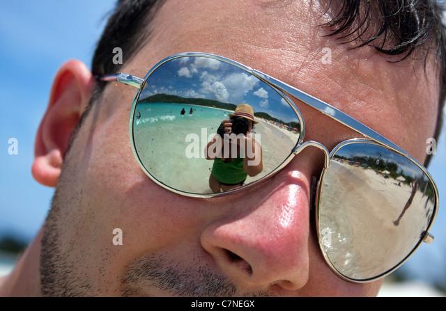 Reflective Caribbean: Sunburn Man Stock Photos & Sunburn Man Stock Images