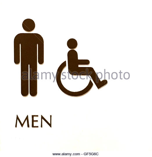 White sign depicting a mens Bathroom   Stock Image. Mens Bathroom Stock Photos   Mens Bathroom Stock Images   Alamy