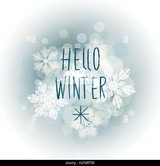 Hello Winter Stock Photos Amp Hello Winter Stock Images Alamy