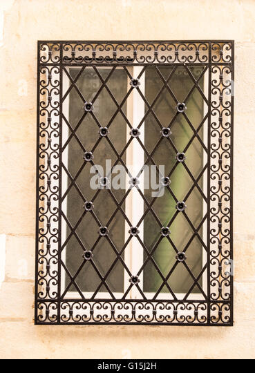 Window grill stock photos window grill stock images alamy - Decorative window grills ...