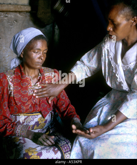 Painet Ha1565 3141 Kenya Hospice Counsellor Visiting Woman Aids Soweto Nairobi Country Developing Nation Less Economically