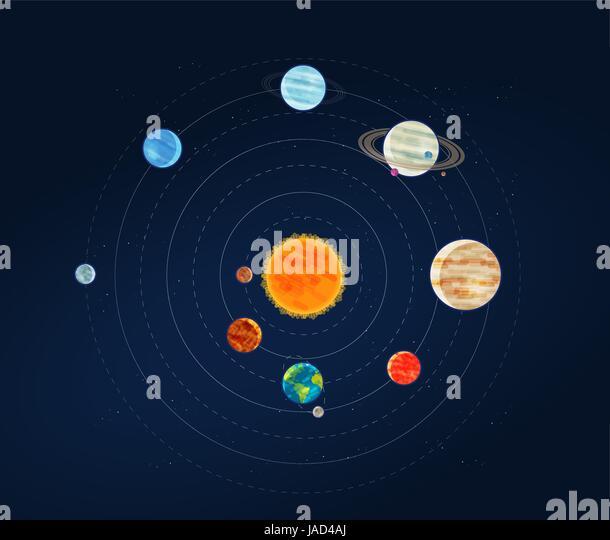 Solar System Diagram Stock Photos & Solar System Diagram ...