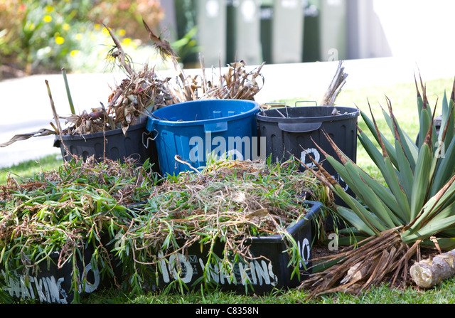Roadside garden waste collection stock photos roadside garden waste collection stock images - Garden waste containers ...