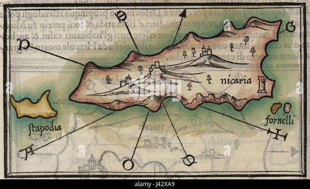 Map Bordone Benedetto 1547 Stock Photos Map Bordone Benedetto