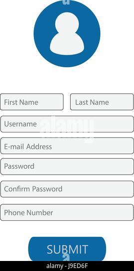 Registration Form Stock Photos  Registration Form Stock Images  Alamy
