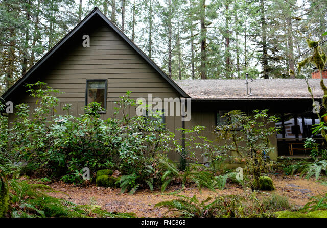 Cabin woods usa stock photos cabin woods usa stock for Cabin in the woods oregon