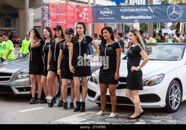 2014 mercedes benz corporate run in miami florida usa stock image. Cars Review. Best American Auto & Cars Review