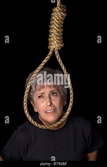 Erotic hang noose rope