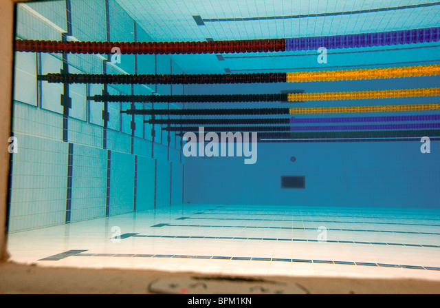 underwater view of the empty pool at the water cube 2008 olympic venue in beijing - Olympic Swimming Pool Top View