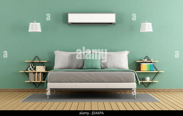 Air Conditioner Green Wall Stock Photos & Air Conditioner Green ...