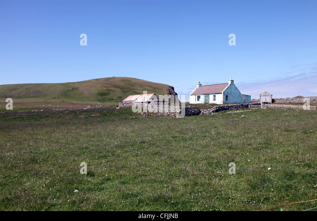 Croft Fair Isle Shetland Scotland Stock Photos & Croft Fair Isle ...