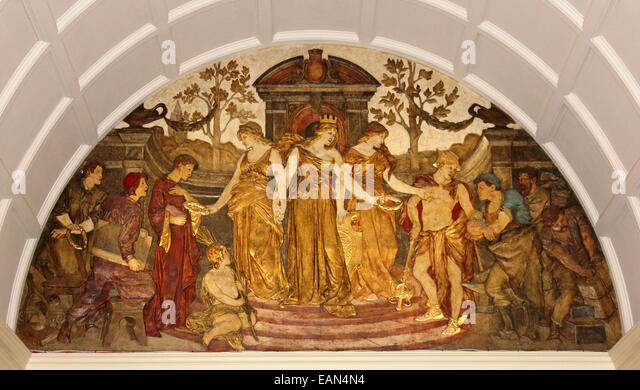 Classical greek relief stock photos classical greek for Bas relief mural