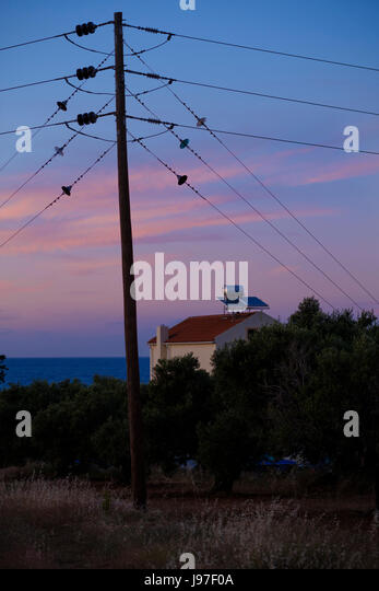 Electricity Pole And House Stock Photos & Electricity Pole And House ...