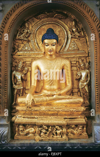 Birth Place Of Buddhism Bihar India: Bodhgaya Worship Stock Photos & Bodhgaya Worship Stock