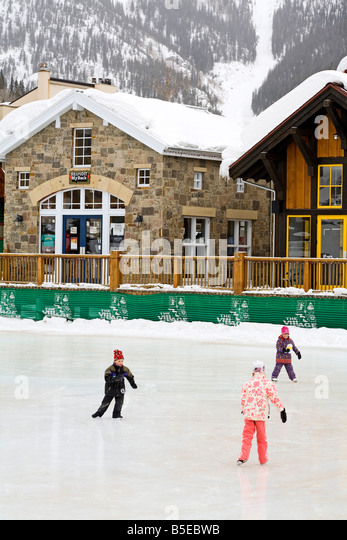 Ice Rink At Copper Mountain Ski Resort, Rocky Mountains, Colorado, USA,  North