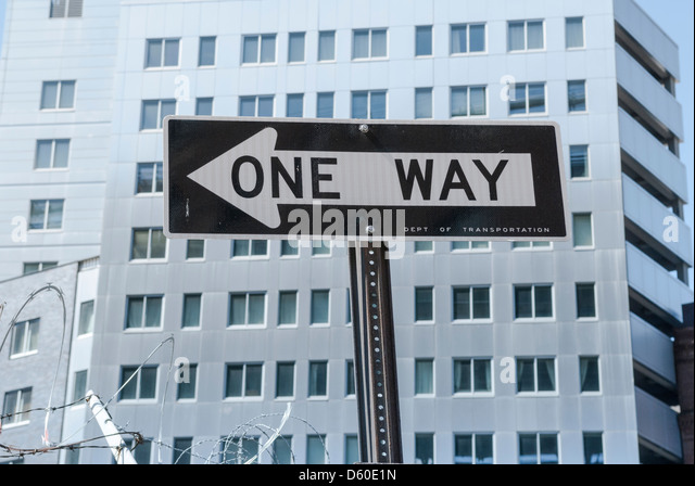 one way traffic sign stock photos & one way traffic sign stock