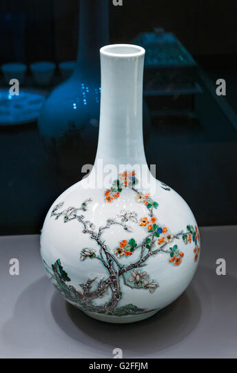 Qing Dynasty Chinese Ceramic Vases Stock Photos Qing Dynasty