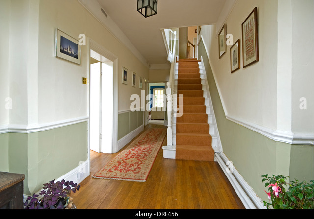 Amazing Hallway And Stairs In Modern House   Stock Image