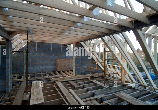 Floor joists stock photos floor joists stock images alamy for Manufactured roof trusses