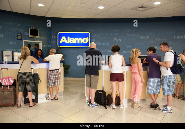 alamo car rental desk las vegas airport las vegas usa stock image