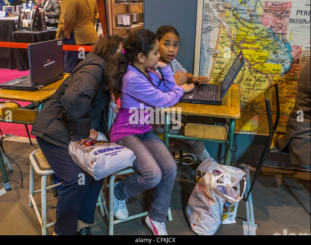French african family france stock photos french african for Salon du livre france