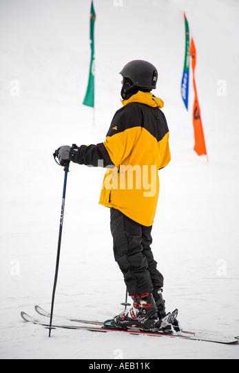 Skier Copper Mountain Ski Resort Rocky Mountains Colorado USA   Stock Image