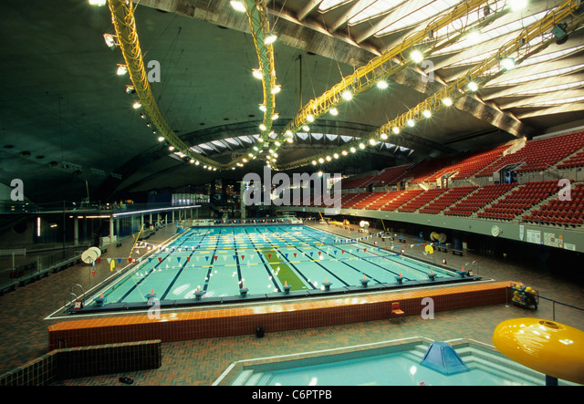 Olympic Pool Montreal Quebec Canada Stock Photos Olympic Pool Montreal Quebec Canada Stock