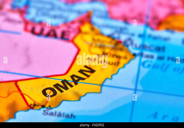 Oman Map Stock Photos Oman Map Stock Images Alamy - Oman in the world map