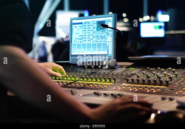 sound engineer concert stock photos sound engineer