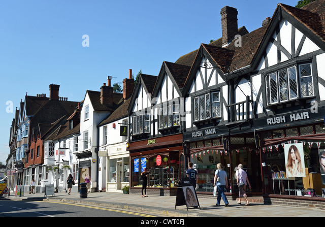 Reigate United Kingdom  city images : High Street Reigate Surrey Stock Photos & High Street Reigate Surrey ...