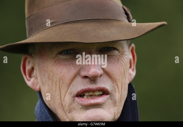 Race horse trainer john gosden stock photos race horse trainer horse racing easter family fun day kempton racecourse stock image negle Image collections