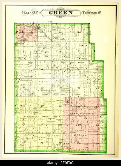 Map Of Green Township History Of Marshall County Indiana 1836 To 1880