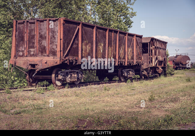 old open wagon and hopper car old industrial railway cars on on mining g3yttr railroad hopper cars stock photos & railroad hopper cars stock  at readyjetset.co