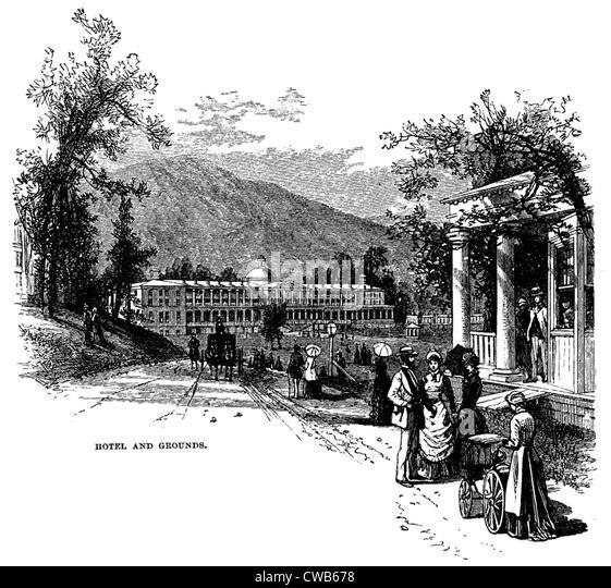 Greenbrier Exterior: White Sulphur Springs West Virginia Stock Photos & White
