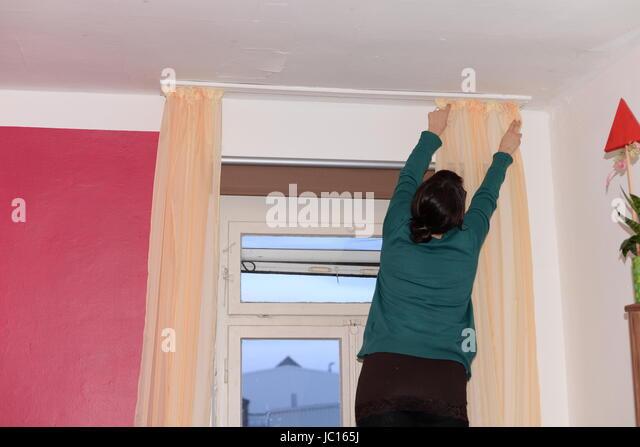 vorhang stock photos vorhang stock images alamy. Black Bedroom Furniture Sets. Home Design Ideas
