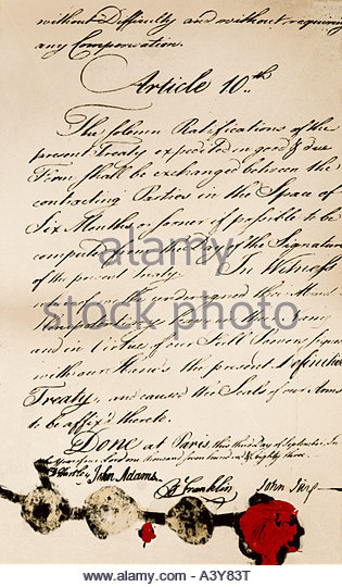 the treaty of paris 1783 The treaty of paris, signed by commissioners benjamin franklin, john adams, john jay and john hartley on september 3, 1783, effectively ended the american revolutionary war between great.