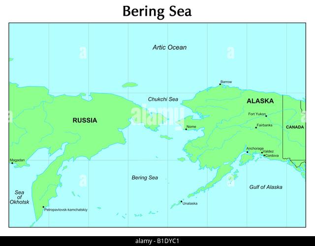 Bering Sea World Map Traffic Club